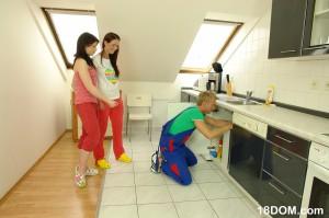 teen sluts seduce a plumber